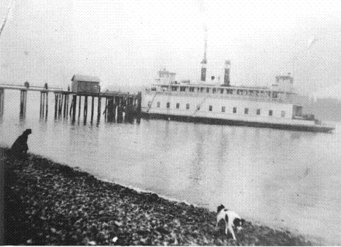 The Harper dock (above) was one of the very first auto ferry piers built on Puget Sound. Service began about 1925, and a rebuilt several times. It was removed in 2013.