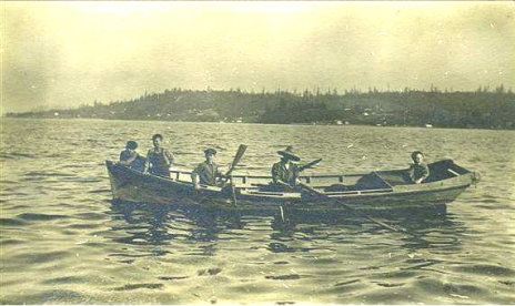 Grant Children Fishing on Yukon Harbor, about 1910