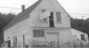 The brush shack, formerly the Harper Brick Factory, at Harper drawbridge.