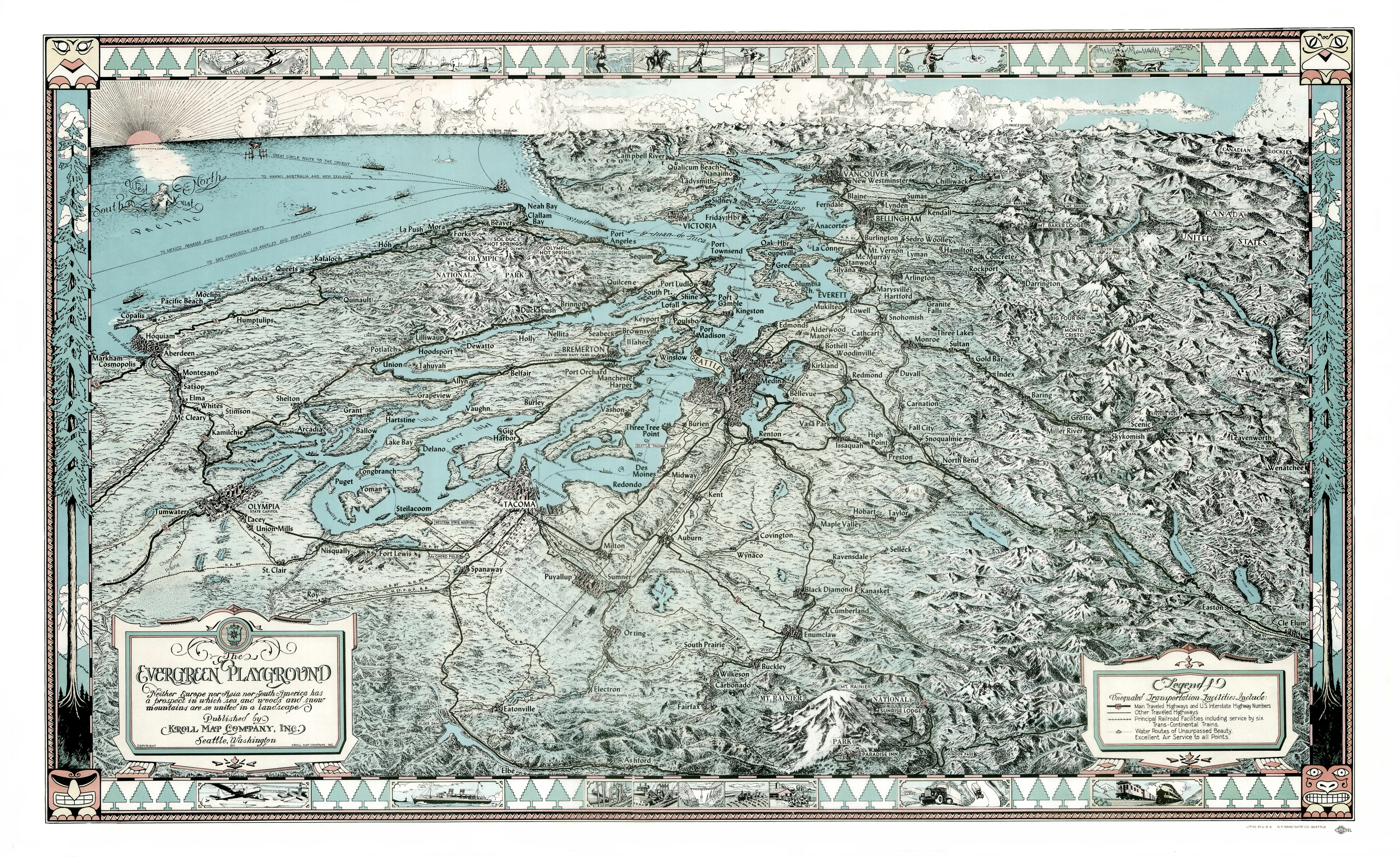 Historical Maps Documents Lists The Yukon Harbor Historical - Us map puget sound