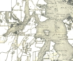 This is a portion of a larger 1909 White & McConihey map from the Washington State University archives. We have removed the section numbers for clarity.