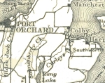 1908 White & McConihey State Map Port Orchard to YH Detail
