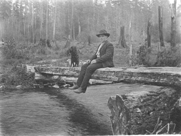 Gates Ranch Allan Spier on Curley Creek Footbridge