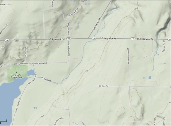 This current image provided by Google Maps shows the area where the Gates Ranch was located.